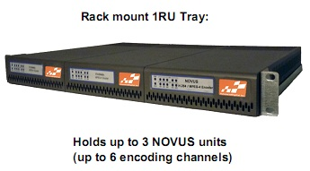 NOVUS H.264 / MPEG-4 Broadcast Encoder Rackmount Picture